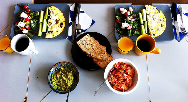 Image of brunch food spread