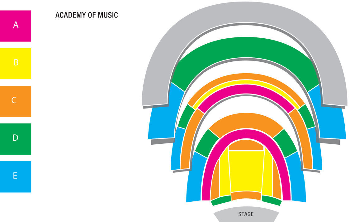 map academy of music color only