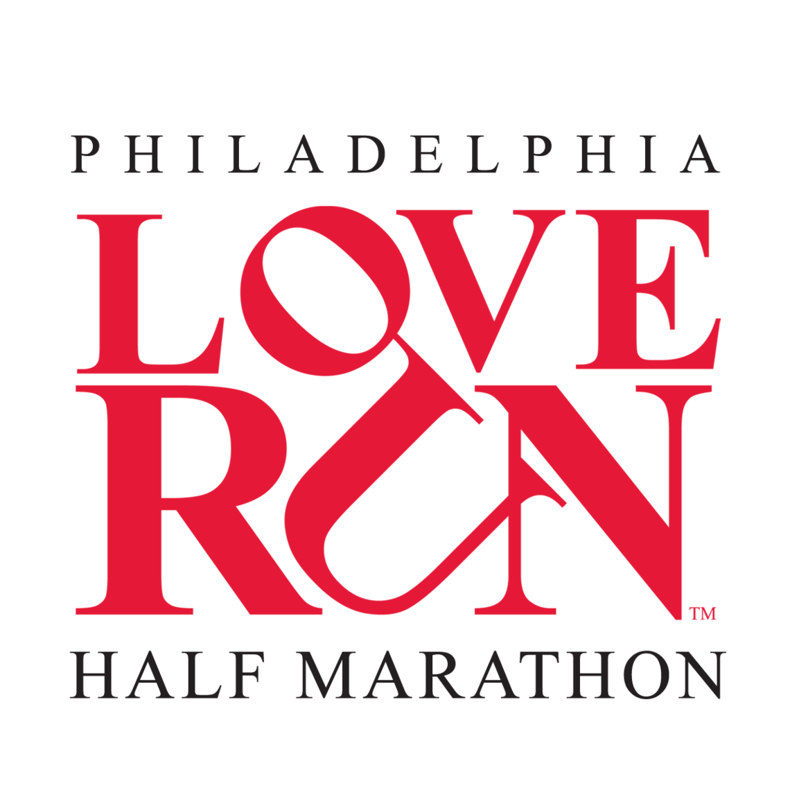 red and black love run logo