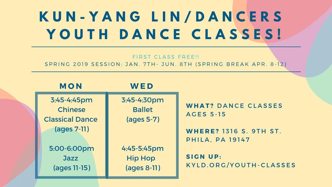 spring 2019 youth class calendar