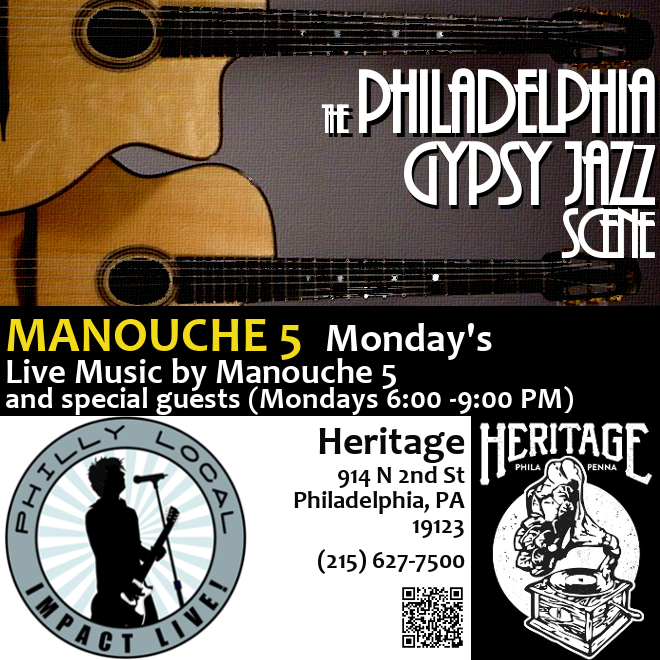 manouche 5 mondays heritage gypsy jazz 2018