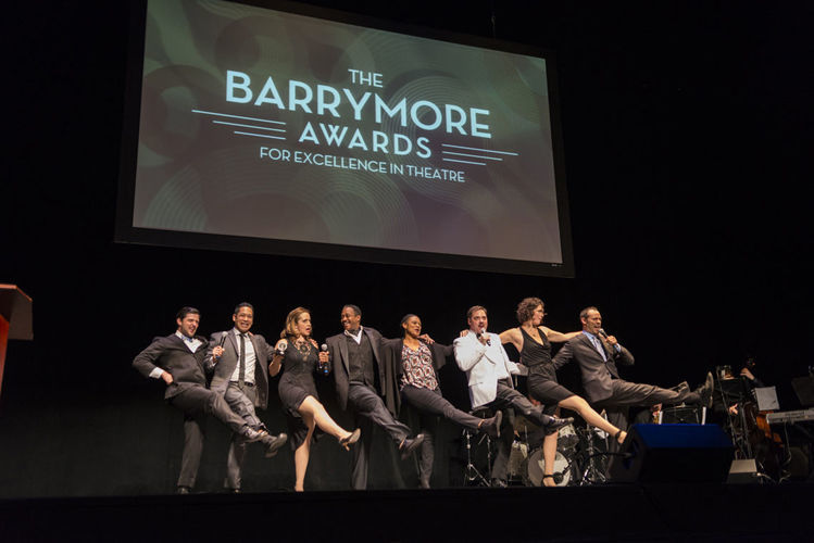 The 2014 Barrymore Awards opening number featuring the presenters in a rendition of 'Together Again'