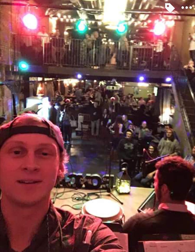 stage selfie
