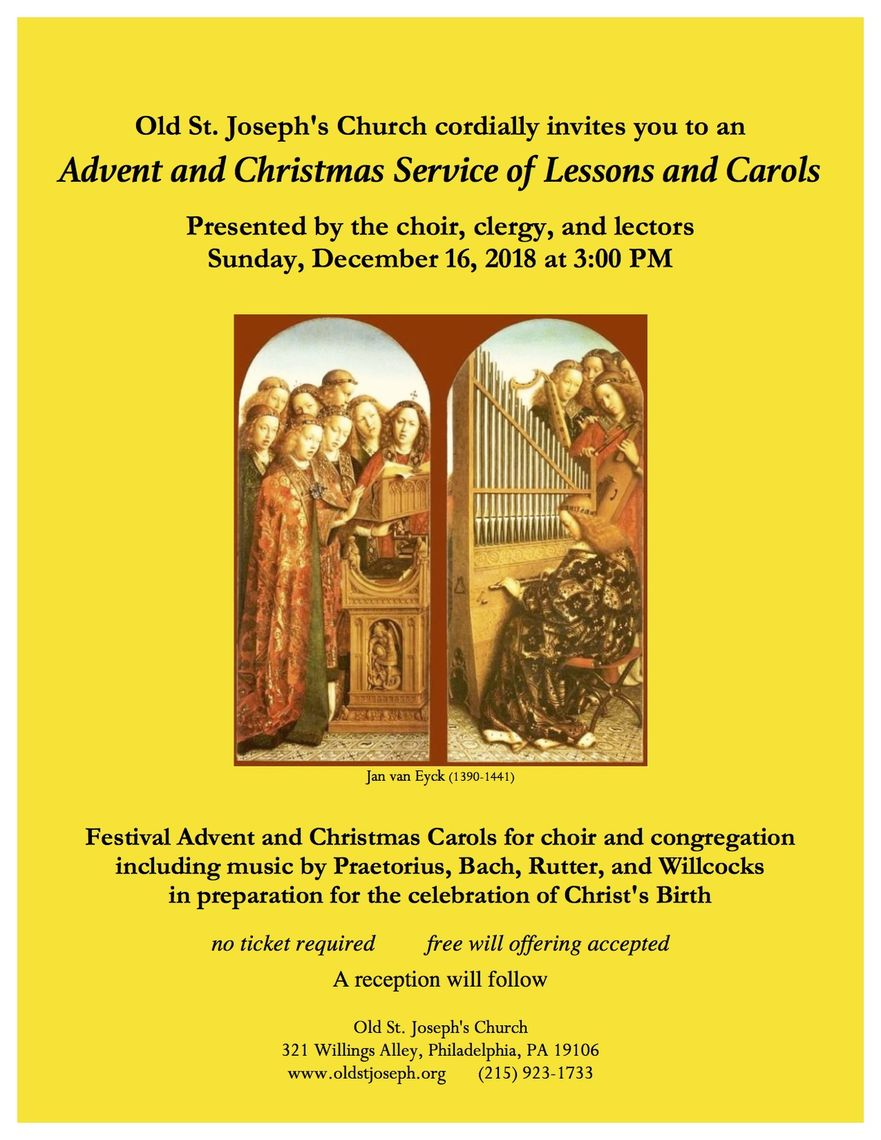 Phillyfunguide – Lessons and Carols