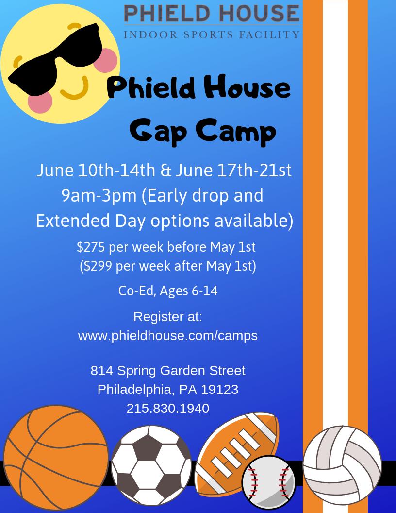 phield house gap camp 1